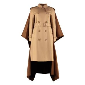 Cotton trench coat with cashmere insert